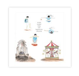 Ilustrace do knihy Jóga do batůžku