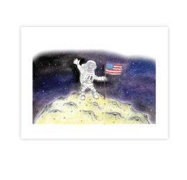 USA – ilustrace z knihy Jóga do batůžku
