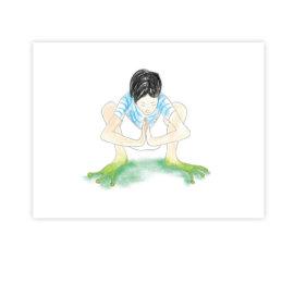 Žabák – ilustrace do knihy Jóga do batůžku